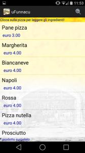 Elenco pizze